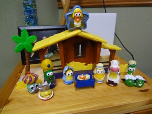 1 - A Veggie Tales Nativity for the office