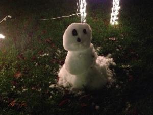 Jeremy's snowman!