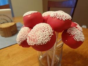 Giant Red Velvet Cake Pops