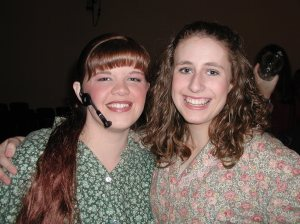 One of my childhood best friends who played Fantine and myself who played a towns person