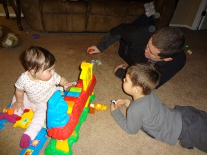 Uncle Jeremy playing with the kiddos!