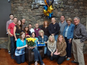 The Bethel Team saying good-bye to Christa