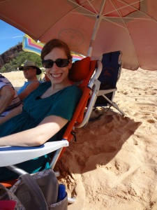 Chilling at Makena Beach