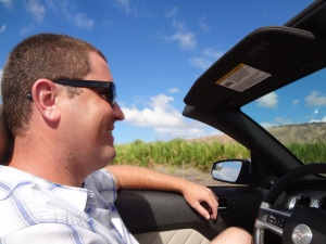 Touring Maui with the top down!