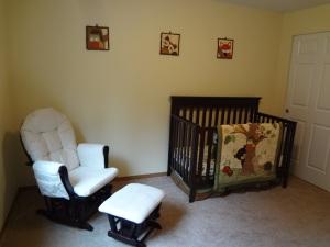 Glider and Crib