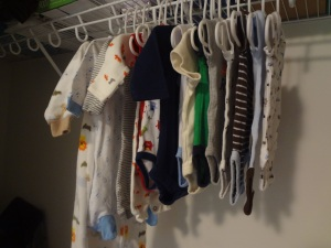 Little clothes on little hangers