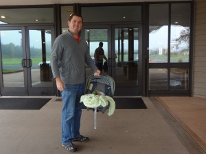 Owen's 1st visit to the church!