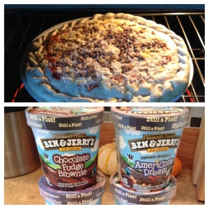5 Meat Stuffed Pizza and Ben & Jerry's on a hard day! Yes, please!!!