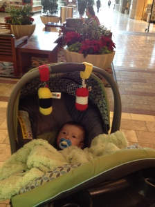 Owen visits the mall!