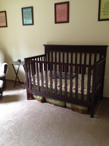 So small in his big crib!