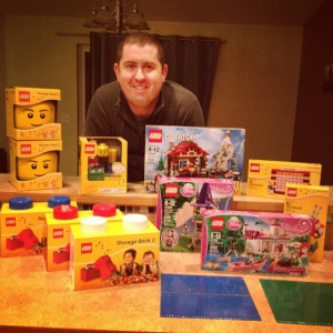 The results of Friday's Lego shopping!