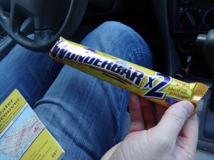 Trying a new candy bar