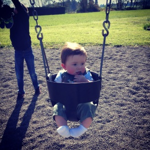 First swing ride!