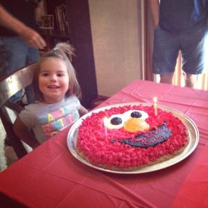 An Elmo birthday for Miss Brinley!