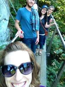 Cliff walk selfie with the fam
