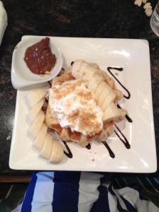 Banana Nutella Waffle - YUM