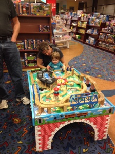 Playing at Chapters with Grandma