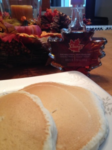 Pancakes with maple syrup from Canada - YES!