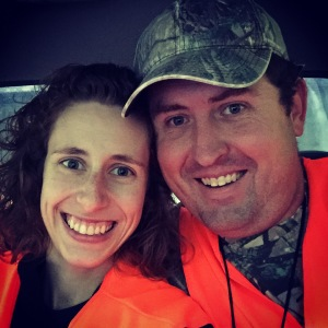 Hunting with my hubby - actually just riding along in the truck
