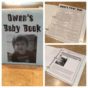 Owen's Homemade Baby Book