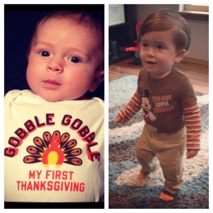 Thanksgiving 2013 & Thanksgiving 2014! What a difference a year makes!