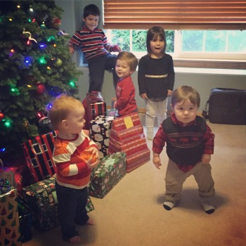 Cousins by the tree