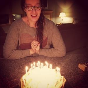 Celebrating April's birthday on New Year's Eve