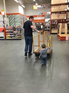 Hanging at Home Depot