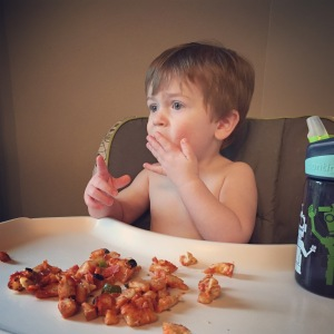 Owen loves pizza!