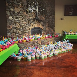 Just a few hundred Easter baskets for Saturday