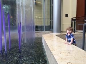 Owen loves water!