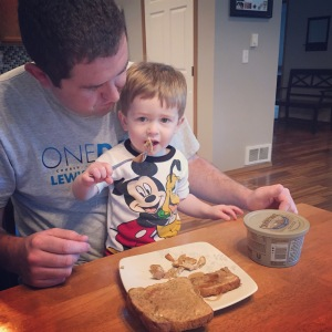 The weekend before we left, Owen hijacked Jeremy's breakfast. We learned that Owen likes french toast!