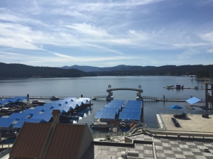 Our view of Lake Coeur d'Alene from our room