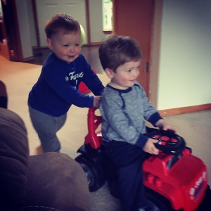 Cousin time is always a favorite! Loved watching these boys play together!
