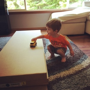 Owen loved his dresser in this form - the boxes were perfect for playing with!