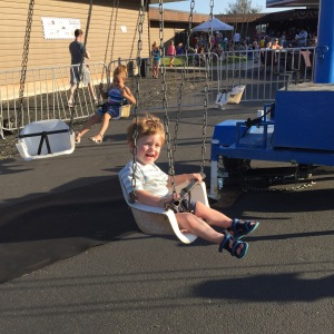 Owen loved the swing ride at the Freedom Party! He went on that ride at least 6 times!