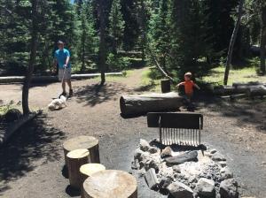 Exploring our campsite