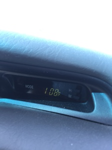 A very hot ride home! So glad for AC in the car!