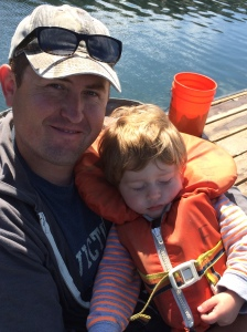 Crabbing with Daddy sure is exciting