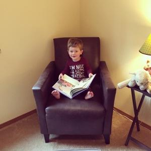 Owen woke up ready to read