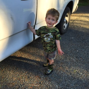 All dressed up in camo and ready to head out into nature with Jeremy. These boys love going on adventures together!