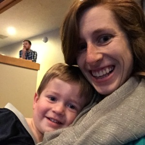 Owen was way too tired to be at church on Sunday. He ended up snuggling with me for most of the time he was in service with me.