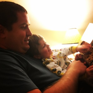 Bedtime stories and snuggles!