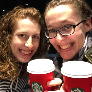 A red cup with April! A holiday tradition!